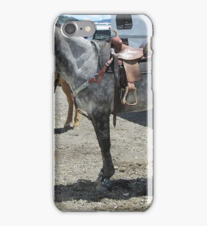Grey horse iPhone Case/Skin
