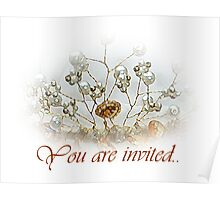 You are invited-- wedding invitation Poster