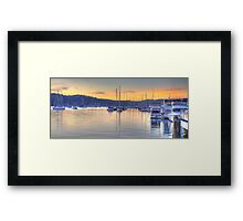 Safe Harbour - Newport, Sydney - The HDR Experience Framed Print