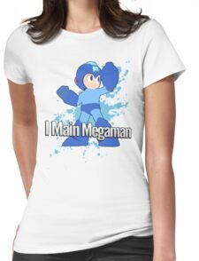 I Main Megaman - Super Smash Bros. Womens Fitted T-Shirt