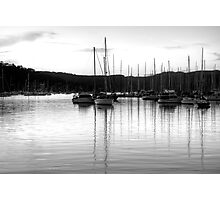 It's All Black And White - Newport, Sydney - The HDR Experience Photographic Print
