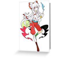 Touhou - Fujiwara no Mokou Greeting Card