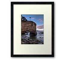 Fossil Cove, Tasmania Framed Print