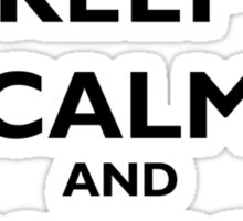 Keep Calm and Hang On Sticker