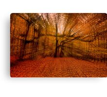 All Hallows Eve In The Forest Canvas Print
