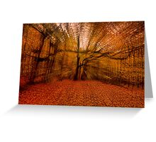 All Hallows Eve In The Forest Greeting Card