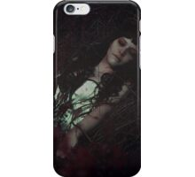 Sleeping Beauty Gothic Girl Black Hair Dead Roses Thornes iPhone Case/Skin