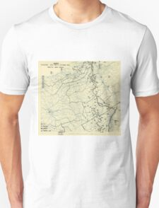 World War II Twelfth Army Group Situation Map October 4 1944 Unisex T-Shirt