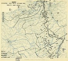 World War II Twelfth Army Group Situation Map October 4 1944 by allhistory