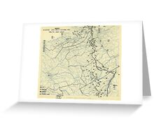World War II Twelfth Army Group Situation Map October 4 1944 Greeting Card