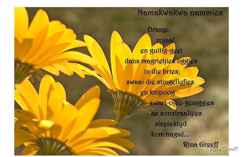 Namakwakwa nammies by Rina Greeff