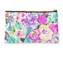 Wild Garden Painterly Watercolor Floral Studio Pouch