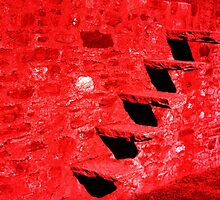Red Stairs. Bellinzona, Ticino, Switzerland 2010 by Igor Pozdnyakov