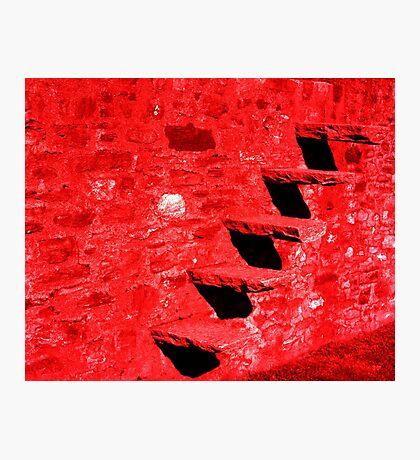 Red Stairs. Bellinzona, Ticino, Switzerland 2010 Photographic Print