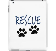 Rescue (blue) iPad Case/Skin