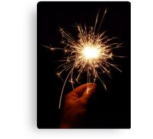 With a dark lantern and burning match Canvas Print