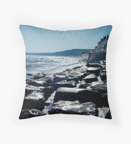Sandsend, North Yorkshire Throw Pillow