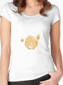 Chubby Charmander !  Women's Fitted Scoop T-Shirt