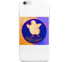 Lively Chicks colorful graphic iPhone Case/Skin