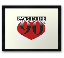 Back to the 90s Logo Framed Print