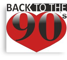 Back to the 90s Logo Canvas Print