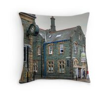 Slate Buildings in Keswick Throw Pillow