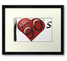 I love the 90s Logo Framed Print