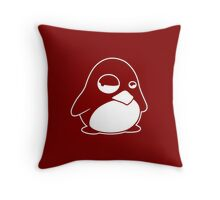TUX Penguin in a bad mood, LINUX  Throw Pillow