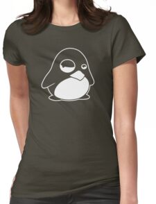 TUX Penguin in a bad mood, LINUX  Womens Fitted T-Shirt