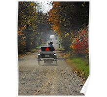 A fall drive down a country road Poster