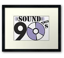 Sound of the 90s purple logo Framed Print