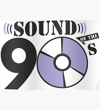 Sound of the 90s purple logo Poster