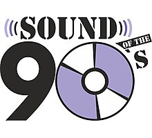 Sound of the 90s purple logo Photographic Print