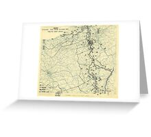 World War II Twelfth Army Group Situation Map October 20 1944 Greeting Card