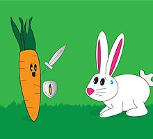 Bunny Vs Carrot by RocketGirl