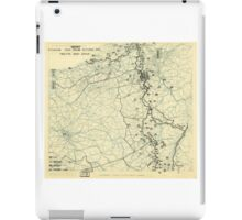 World War II Twelfth Army Group Situation Map October 20 1944 iPad Case/Skin