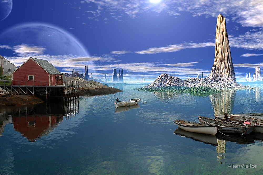 Tranquility Harbor by AlienVisitor
