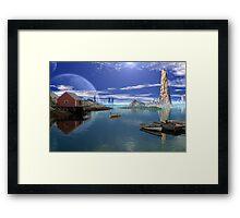 Tranquility Harbor Framed Print