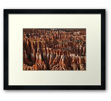 Bryce Canyon Castles Framed Print