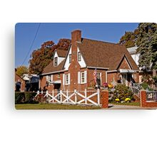 Typical  Home in Queens on Halloween Canvas Print