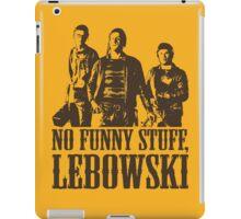The Big Lebowski Nihilists No Funny Stuff Lebowski T-Shirt iPad Case/Skin