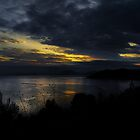 Dusk over Skiathos  by larry flewers