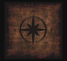 Nostalgic Old Compass Rose Design by NaturePrints