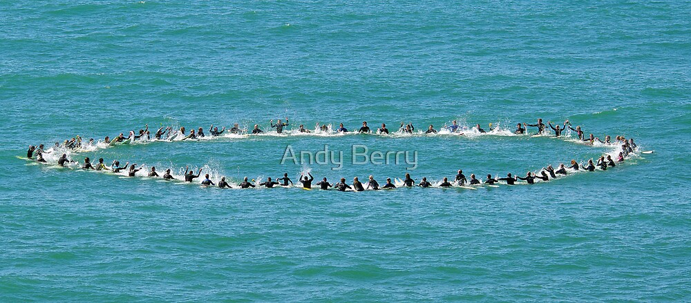 Andy Irons Memorial Paddle Out, Bells Beach 6 Nov by Andy Berry