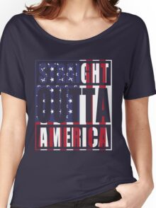 Patriotic Straight Outta America Women's Relaxed Fit T-Shirt