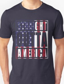 Patriotic Straight Outta America T-Shirt