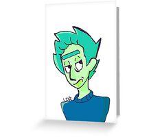 green rick Greeting Card