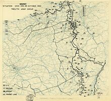 World War II Twelfth Army Group Situation Map October 22 1944 by allhistory