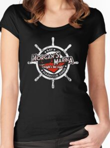 Morgan's Marina (white) Women's Fitted Scoop T-Shirt