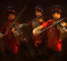 violinist by Kay Kempton Raade